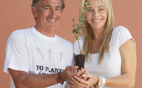 Belén Rueda inaugura el bosque Yves Rocher de España