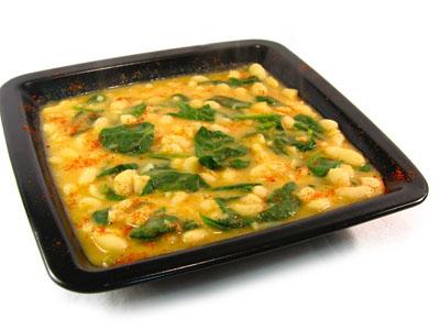 La receta del día: Alubias blancas con espinacas