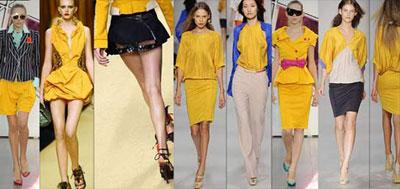 Amarillo: El color de moda para el 2009