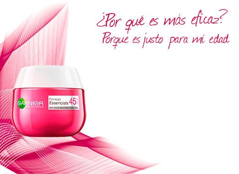 Nueva gama antiarrugas Essencials de Garnier, una crema específica para cada necesidad de la piel