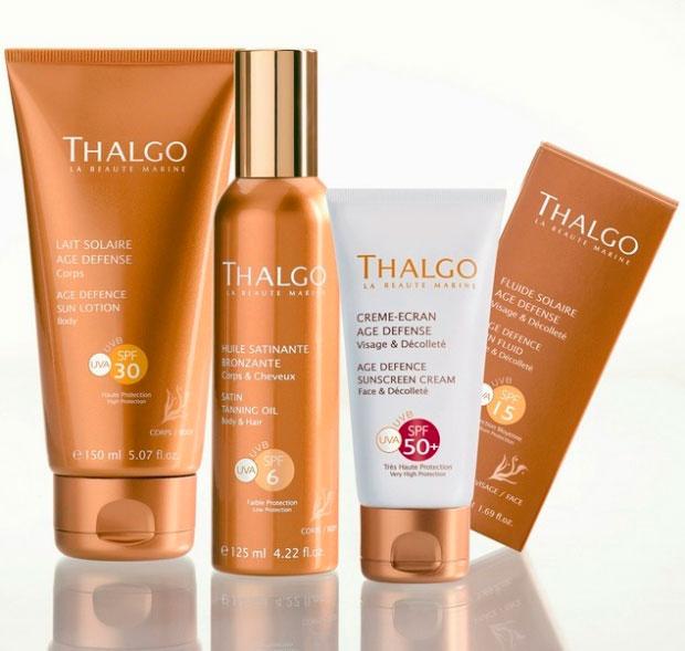 Productos Solares Thalgo para lucir juvenil y bronceada