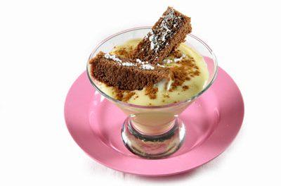 La receta del día: Brownies de chocolate sobre crema de vainilla