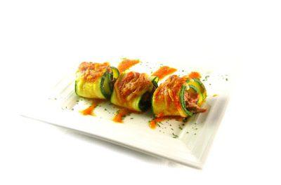 La receta del día: Calabacines rellenos de pollo asado y setas