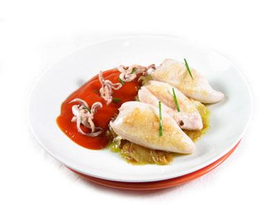 La receta del día: Calamares a la plancha con salsa de tomate