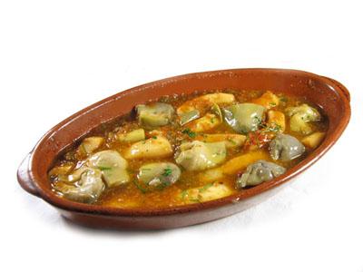 La receta del día: Cazuela de sepia con alcachofas