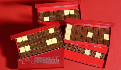 Ideas para San Valentín: telegrama escrito en chocolate