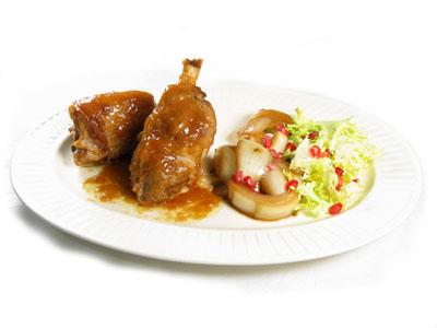 La receta del día: Cordero a la cazuela, cebolla confitada y ensalada de escarola y granada