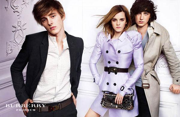 Emma Watson repite con Burberry en la campaña primavera 2010