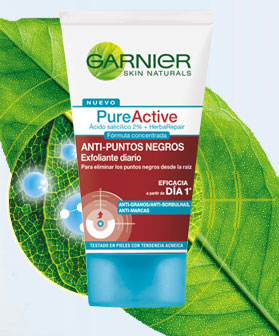 Garnier Pure Active: Gel exfoliante anti puntos negros