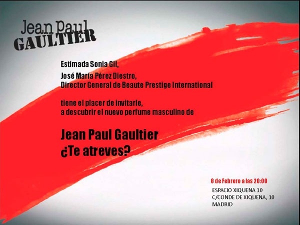 Jean Paul Gaultier ¡Sorpresa!