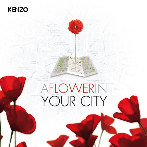 """La nueva """"app"""" de Kenzo: """"A Flower In Your City"""""""