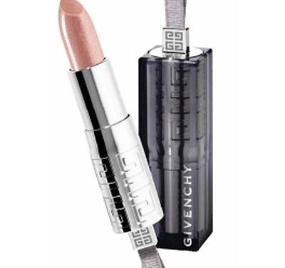 Labios brillantes con Rouge Interdit Shine de Givenchy