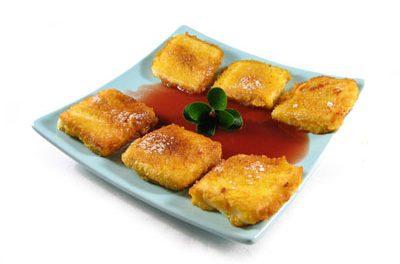 """La receta del día: Leche frita con """"coulis"""" de frambuesas"""
