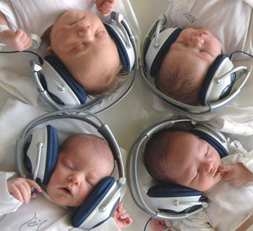 La música estimula al bebé