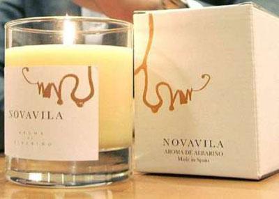 Sale al mercado la primera vela decorativa con aroma de Albariño que estimula el relax