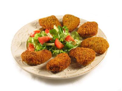 La receta del día: Nuggets de pollo con ensalada de lechugas variadas