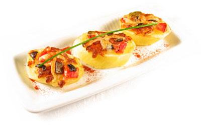 La receta del día: Patatas al microondas con mozzarella gratinada