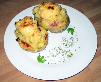 La receta del día: Patatas rellenas de jamón y queso