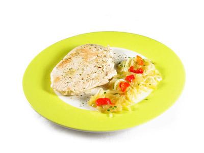 La receta del día: Pechuga de pavo a la plancha con cebolla rehogada