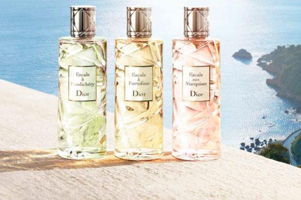 Perfume Escale de Dior, un viaje de fragancias