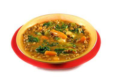 La receta del día: Potaje de lentejas y espinacas