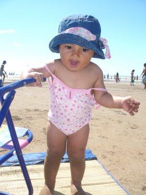 Primeros pasos en la playa