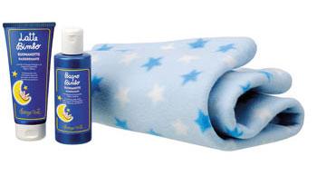 Productos calmantes en el baño del bebé