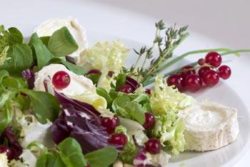 La receta del día: Ensalada con queso de cabra y frutos del bosque