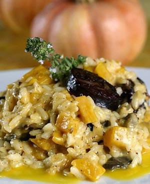 La receta del día: Risotto con berenjena al queso