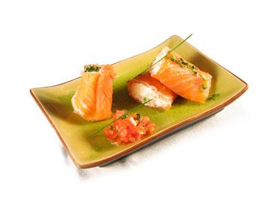 La receta del día: Rollitos de salmón ahumado