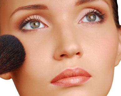 Consejos sobre el uso del rubor o colorete