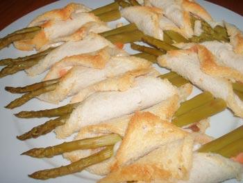 La receta del día: Pañuelos de trigueros y salmón