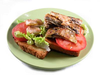 La receta del día: Sándwich club con tortilla de setas