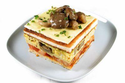 La receta del día: Sándwich caliente de champiñones y setas