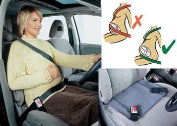 Seguridad durante el embarazo en el automóvil