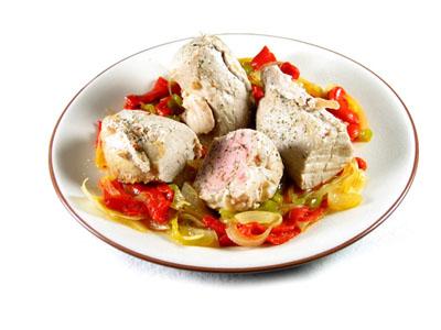 La receta del día: Solomillo de cerdo con fritada de pimiento y cebolla