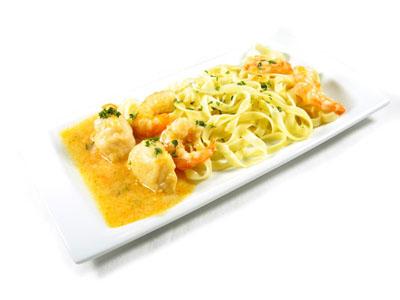 La receta del día: Tagliatelles en salsa de marisco con rape y langostinos