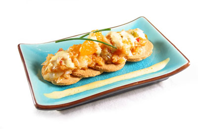 La receta del día: Tapa de bacalao con salsa alioli de mandarina