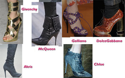 Tendencias de zapatos para la primavera verano 2009