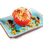 La receta del día: Tomates rellenos de arroz, maíz y brotes