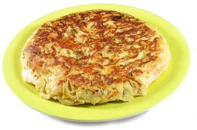 La receta del día: Tortilla murciana de pisto con patatas y bacalao
