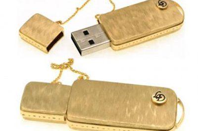 Memorias USB en oro