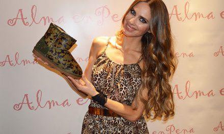 Vanesa Romero presenta la nueva colección de zapatos de Alma en Pena