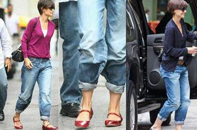 """Con los vaqueros de tu novio, """"boyfriend jeans"""", estarás a la última moda"""