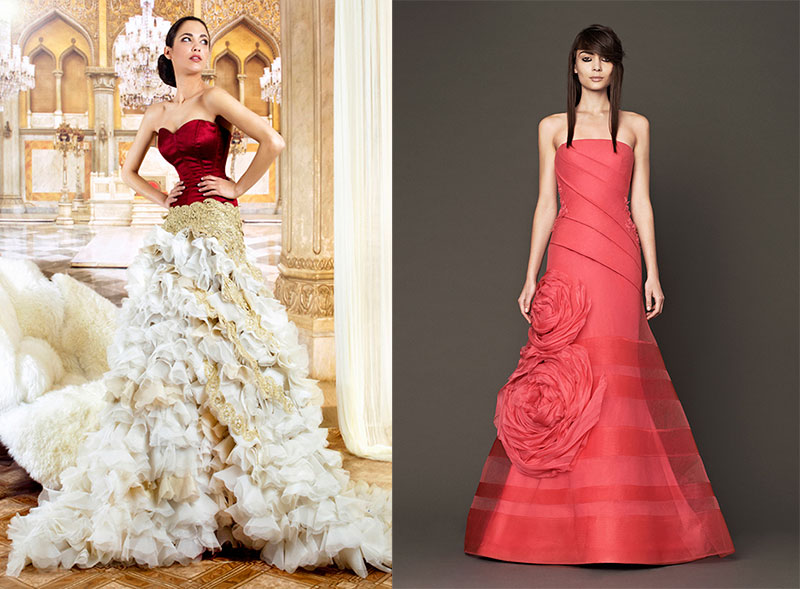 Vestidos de novia en color