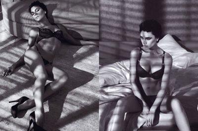 Victoria Beckham posa en ropa interior para Armani