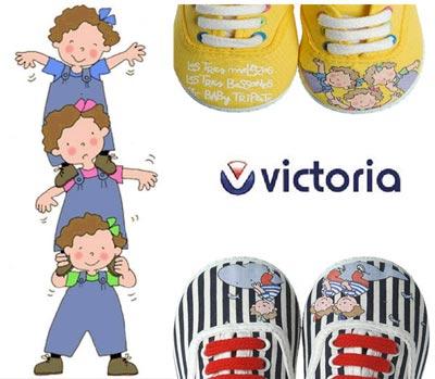 Las zapatillas victoria y Las tres mellizas juntas