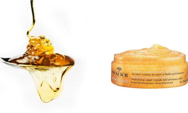 Exfoliante bajo la ducha nutritivo para la piel Nuxe Rêve de Miel