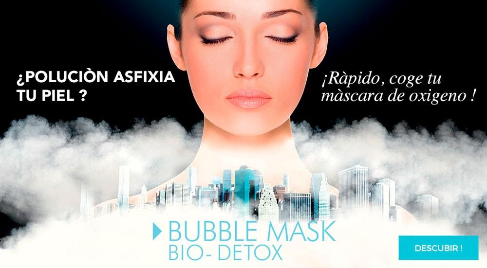 Máscara de Oxígeno para la piel, la contaminación la asfixia