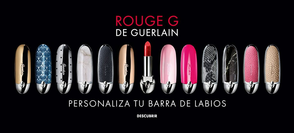 Rouge G de Guerlain, la primera barra de labios que puedes personalizar y grabar tu nombre en ella